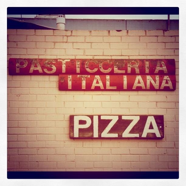Old pizza shop sign. Brunswick, Melbourne