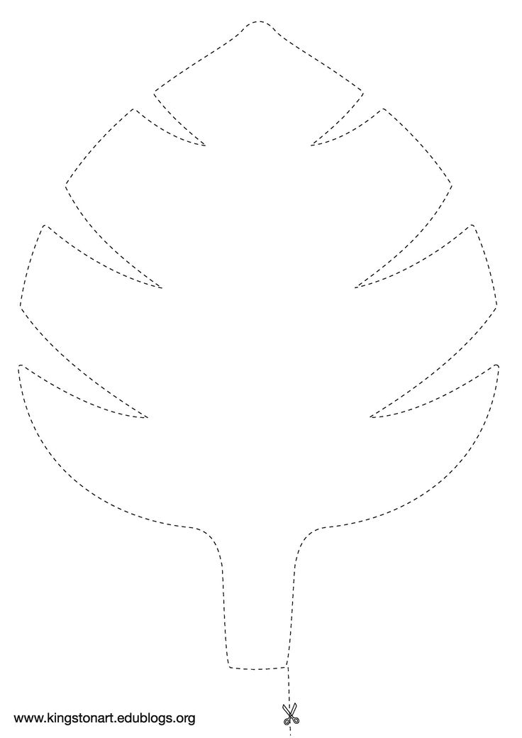 Versatile image pertaining to jungle leaf template printable