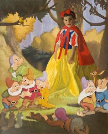 Lourdes like snow white