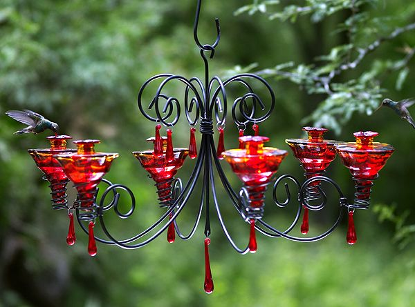 This is the coolest hummingbird feeder.