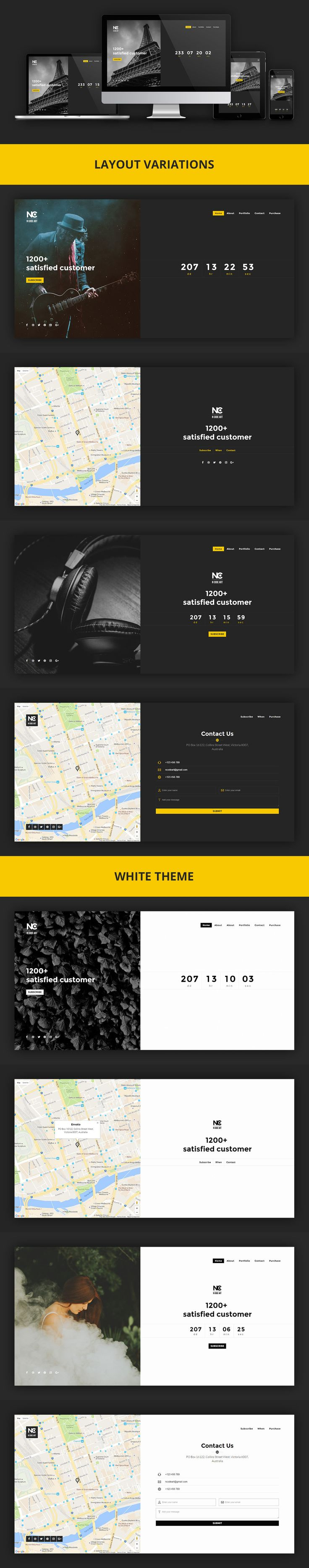 405 best One Page Website Templates images on Pinterest | Lightbox ...