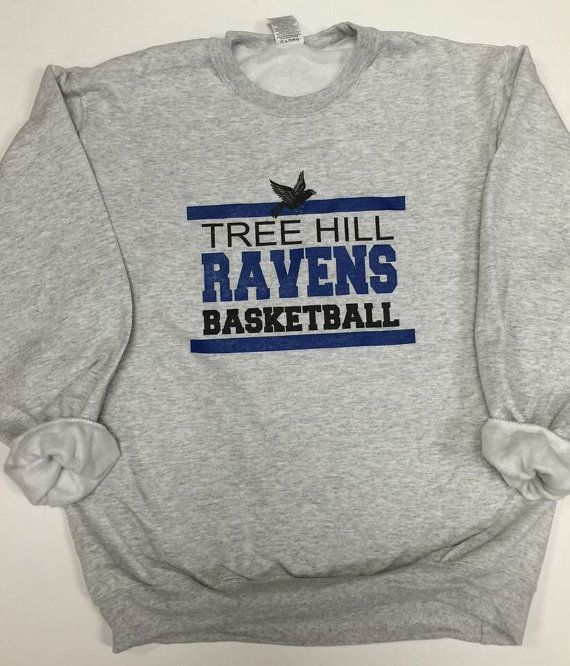 One Tree Hill Ravens Basketball Fleece Crew Sweatshirt