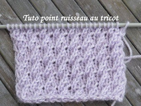 Tuto Point Ruisseau Au Tricot Stitch Knitting Punto Tejer