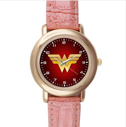 Size: OneSize  Material: Leather Alloy   - The watchcase is made of stainless, polished on front, the outline of the watch face is plated in gold, met