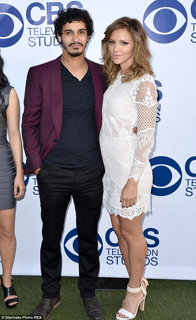 Romance: The American Idol alum is reportedly dating her Scorpion costar Elyes Gabel. They are pictured in May at a CBS event