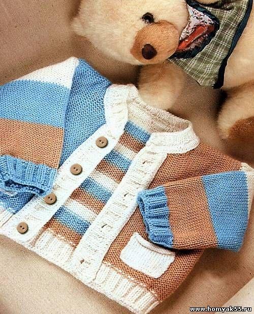 трехцветный жакет с карманами