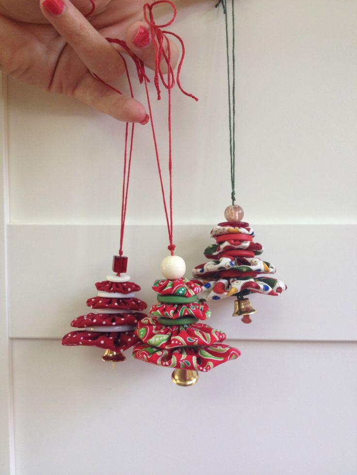 Suffolk puff tree ornaments
