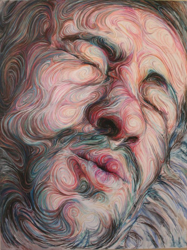 Swirling, Psychedelic Self Portraits by Nikos Gyftakis portraits painting