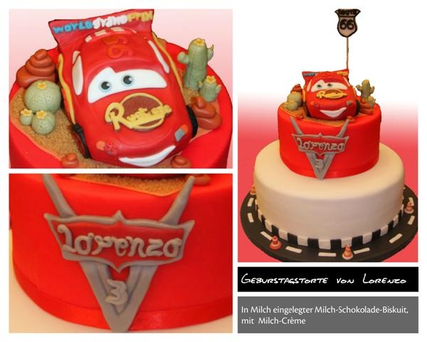 Birthday cake Saetta Mc Queen - Cars and Cars2