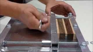 prensa casera para madera - YouTube