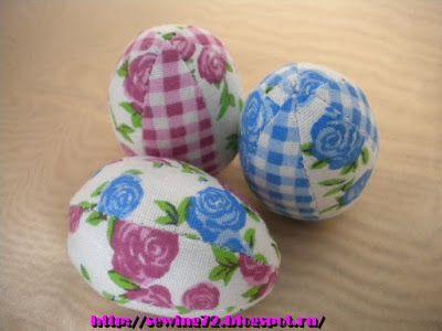Шить,пошивать да добра наживать!: Пасхальные яйца из ткани