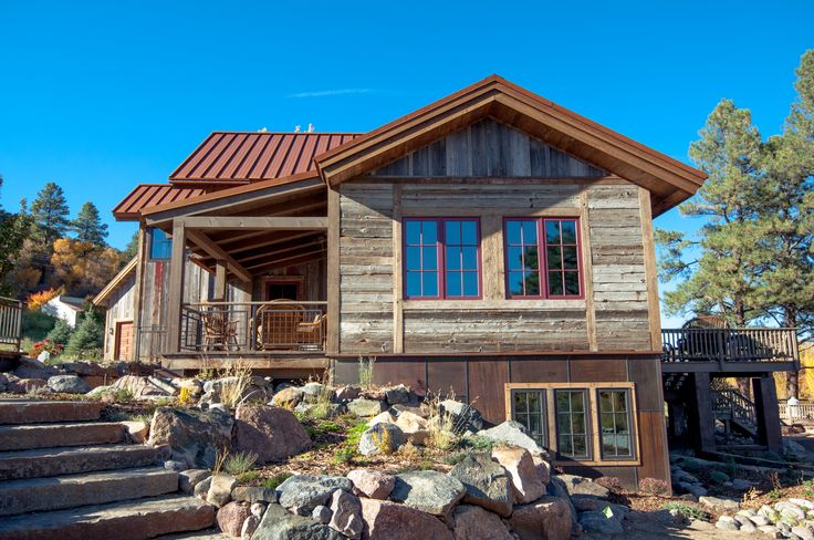Mountain Ranch Side View in Bayfield Colorado on the Pine River
