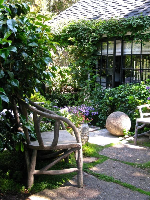 200 best images about faux bois on pinterest for English courtyard garden design