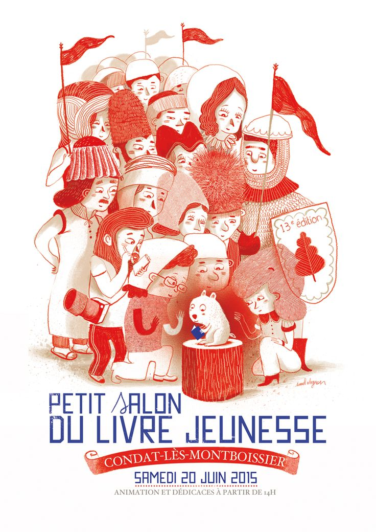 LE PETIT SALON DU LIVRE DE CONDAT-LES-MONTBOISSIER (63) le samedi 20 juin 2015  Affiche : Samuel Ribeyron