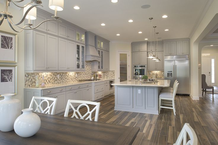 Glamorous simplicity | Dining and Kitchen Area | The Anniston Model by CalAtlantic Homes in The Grove at Twenty Mile