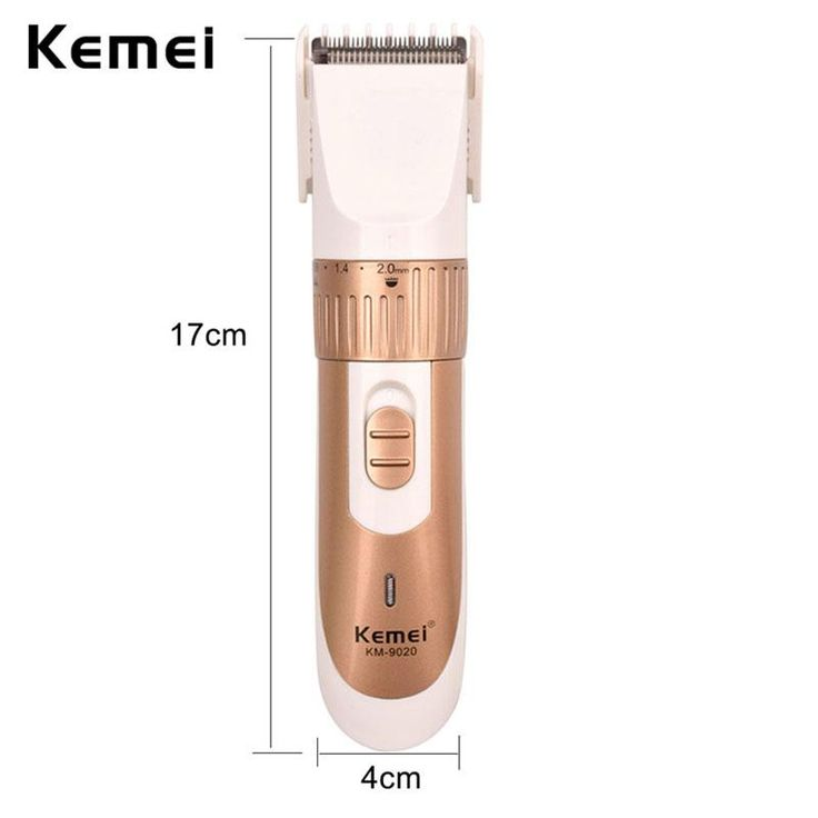 AA Battery Powered Kemei Rechargeable Electric Hair Clipper Cutting Machine Haircut with Comb for Men aparador de barba S4142