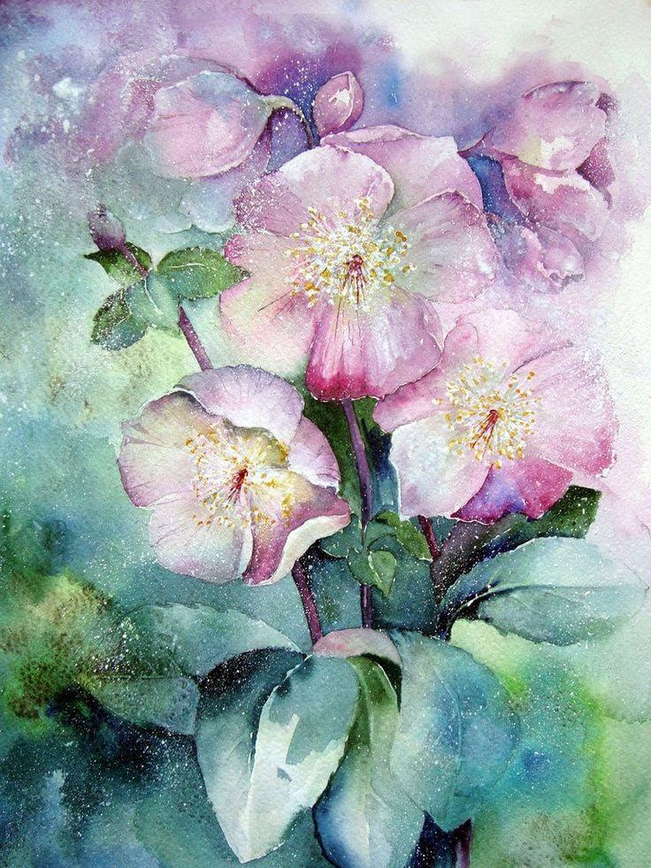 панель акварельные цветы картинки грудь должна