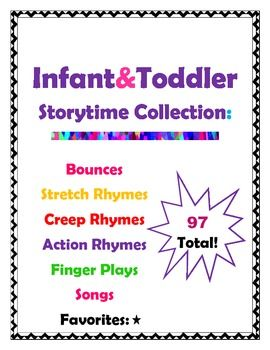 Infant & Toddler Storytime Collection 97-Rhymes,Songs, & Fingerplays!!