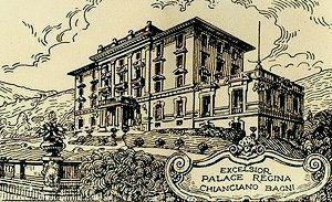 Grand Hotel Excelsior a Chianciano Terme. L'Hotel Excelsior nasce nel 1927 a Chianciano Terme con il nome di Excelsior Palace Regina. Nel 1954 fu acquistato dalla famiglia Lazzerini, che da allora ha sempre assicurato un'accurata gestione diretta della struttura, all'insegna della ricercatezza e della cura familiare.