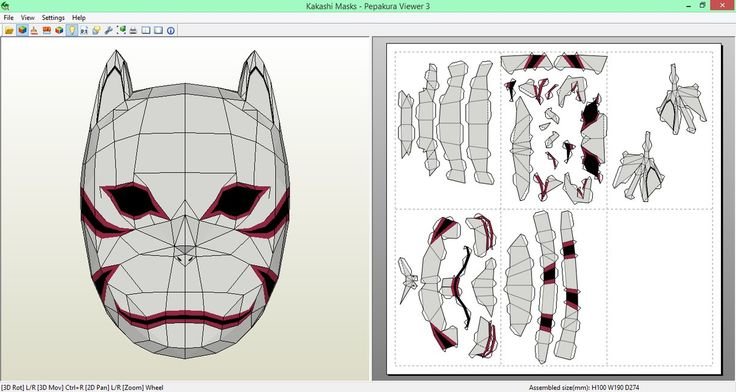 Kakashi Anbu Mask Papercraft [DOWNLOAD] by SIBOR270898.deviantart.com on @DeviantArt