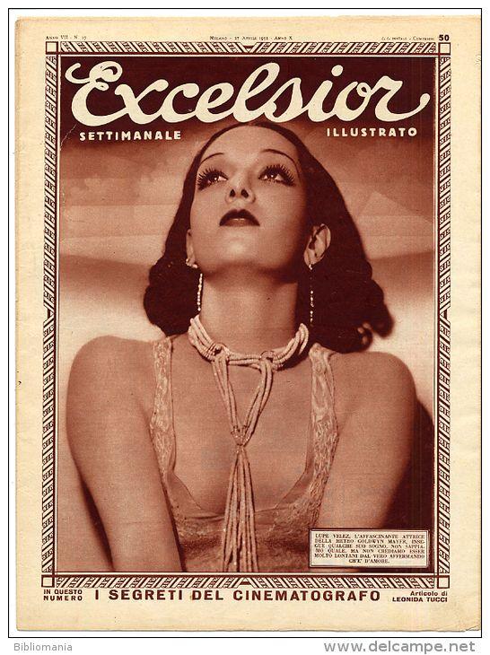 1932 Italian Magazine LUPE VELEZ on cover
