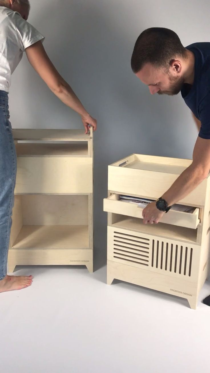 Frontier Design modular birch plywood storage. **Stack of the day!!