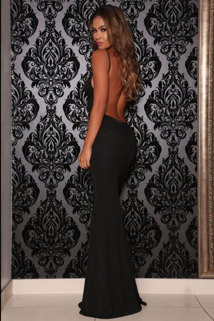 07ad7e8ad1 Mon Cherie Backless Black Maxi Dress | Sexy Backless Maxi Dresses ...