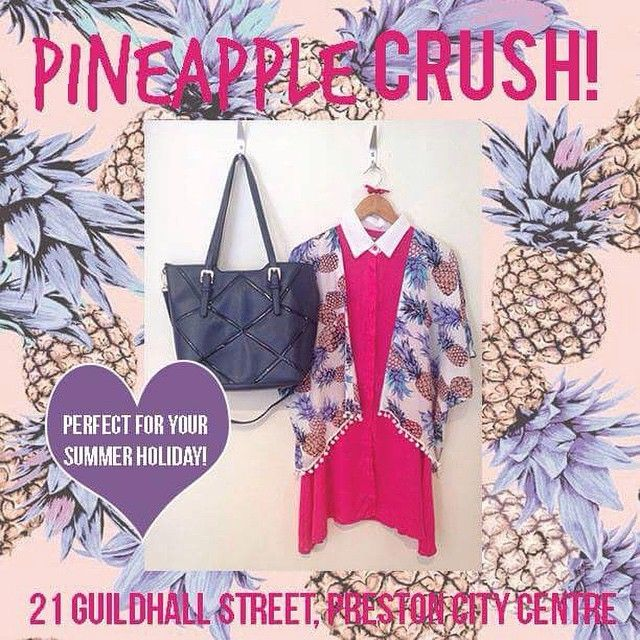 How gorgeous is our pineapple printed kimono!! Perfect for holidays! Dress it up or dress it down!! Get or regret at 21 Guildhall Street, Preston City Centre! Landing online soon at www.maryandmilly.co.uk and get yourself FREE UK shipping!