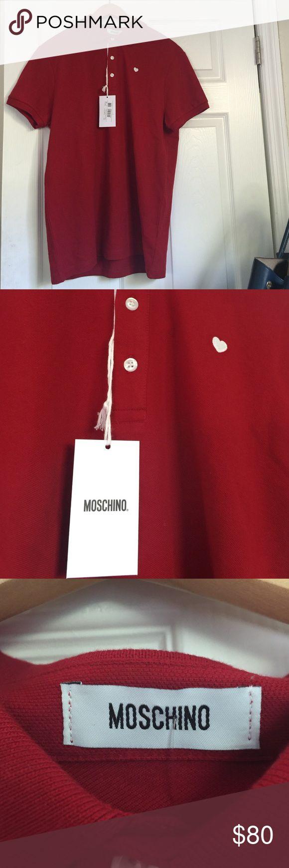 Moschino Polo Shirt Moschino- Red heart logo Polo Shirt Moschino Shirts Polos