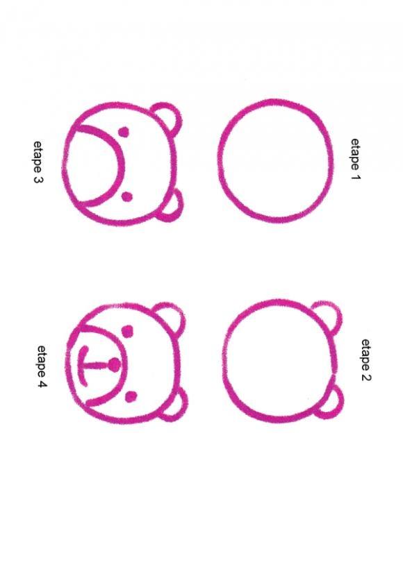 Les 34 meilleures images propos de id es de dessin - Dessin d animaux facile a reproduire ...