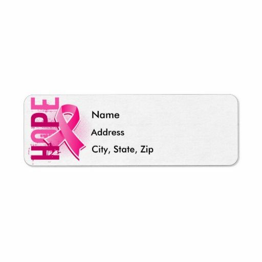 21 best Breast Cancer Return Address Labels images on Pinterest - sample return address label