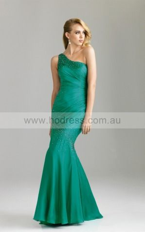 None Floor-length Natural Mermaid Chiffon Formal Dresses ahaa307373--Hodress
