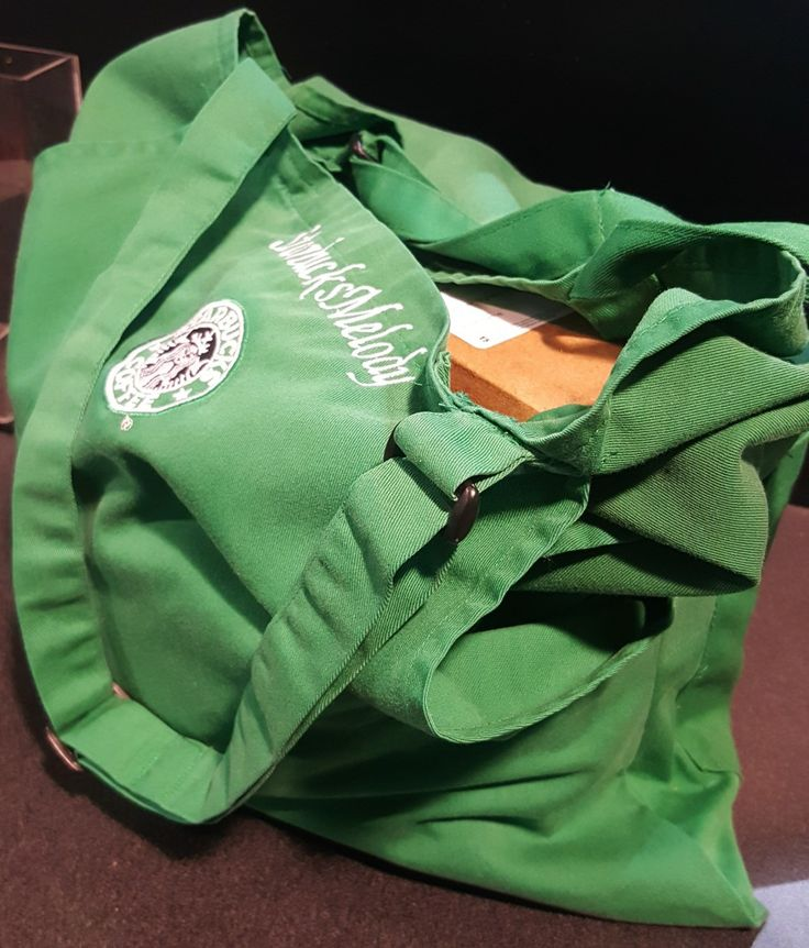 Today I received a total surprise in the mail. It's a tote bag made from an old Starbucks green apron. It definitely works and you end up with two pockets on the outside. The straps are adjustable too. I can't wait to use it! I love it! Starbucks partner Mary (in the city of Orange,...