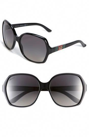 5a21844ecdf Gucci 'Classic' Sunglasses - Black #Guccihandbags | Gucci handbags ...