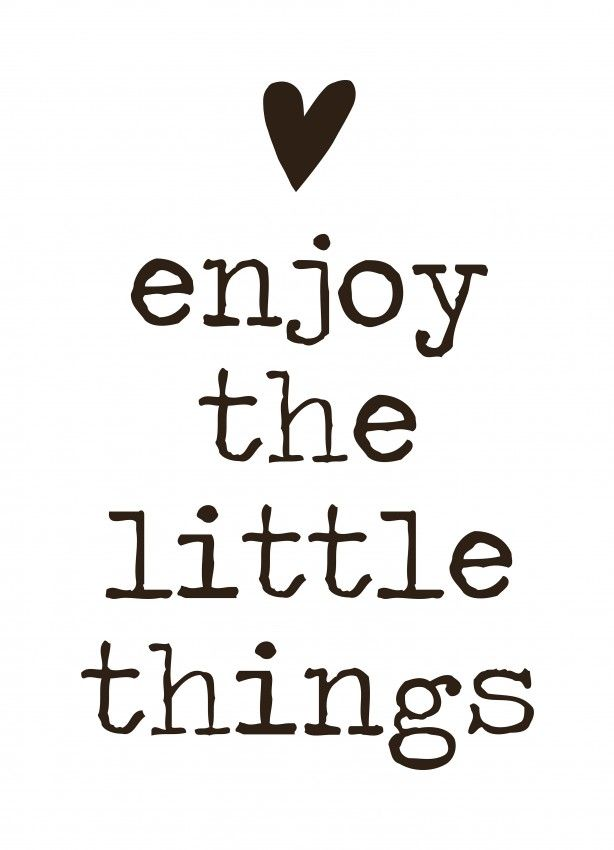 Muursticker 'Enjoy the little things'