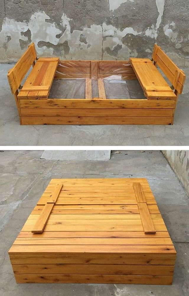 Outdoor Pallet Kids Play Box Pallet Projects Furniture Wood Pallets Wood Pallet Projects
