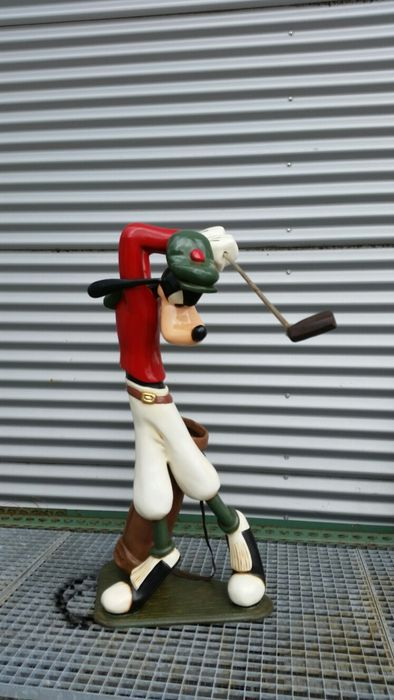 Catawiki Online-Auktionshaus: Goofy - Disney - Goofy as golf player - polyresin - 100cm high - with certificate
