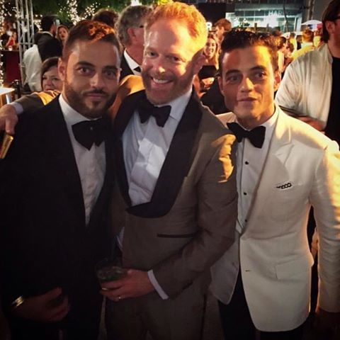 Sami Malek,Rami Malek and Jesse Tyler at the 2016 Emmys