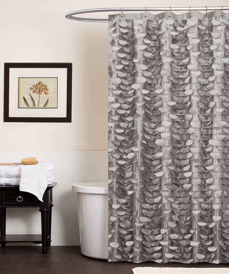 Gray Georgia Shower Curtain
