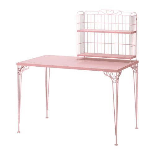 FALKHÖJDEN Desk with add-on unit - pink - IKEA. New sewing table?