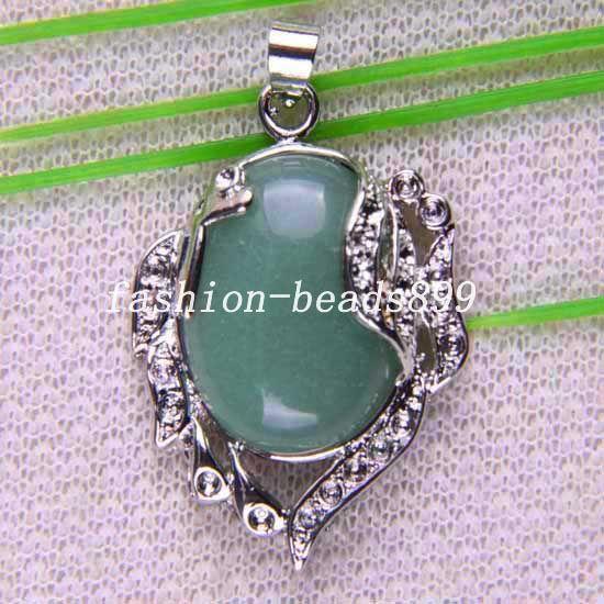 Бесплатная доставка мода ювелирных изделий 29 X 37 мм естественный зеленый авантюрин кулон 1 шт. K739купить в магазине kate-JewelryнаAliExpress