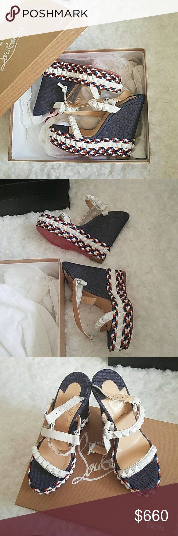 Christian louboutin  wedge Brand New Never worn Comes with box and dust bags Save up to 70% compared to department store prices seen at Bloomingdales, Saks, Nordstrom, and ... Christian Louboutin Shoes Espadrilles