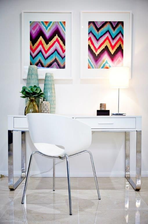 Displaying art is a great way to brighten up any room in the house. We love how these prints stand out beautifully against the white background!