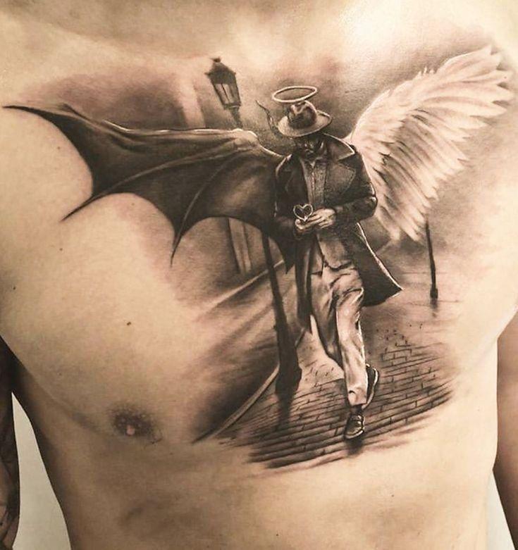 Erzengel Michael Bekampft Den Teufel Tattoo 12