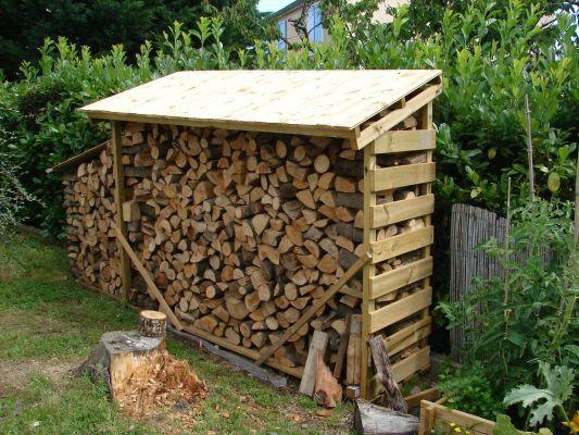 Stockage bois de chauffage dans abri en bois? (7 messages) - ForumConstruire.com
