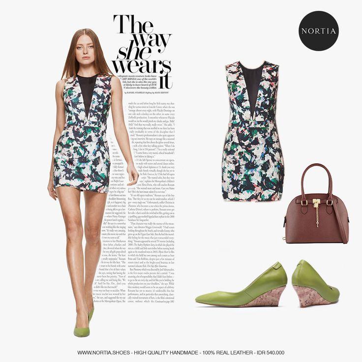 Be fabulous with Olive Applewood #nortia #sepatu #fashion #wanita #highquality #leather #wedges #smartlooks #madeinindonesia #jakarta