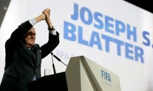 May 29, 2015 -Deep down, we all knew it was coming didn't we: Blatter will remain FIFA President for the next four years, after which he will step down. Blatter's opponents, including Prince Ali and David Gill – who will now relinquish the FIFA Vice-Presidency he was awarded just a few hours ago – have been squashed. The Swiss reigns supreme. Sepp Blatter celebrates after his re-election as FIFA President