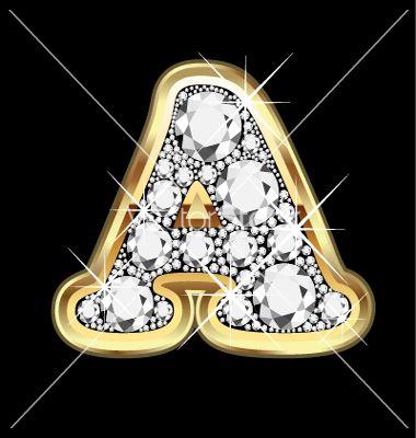 The Letter K In Diamonds