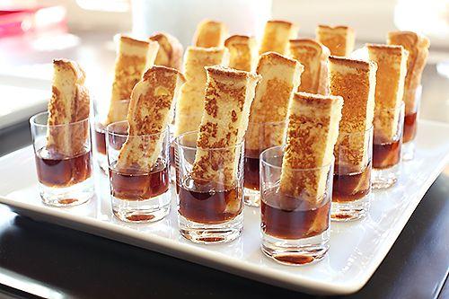 Crepes/churros en vasitos con chocolate/caramelo