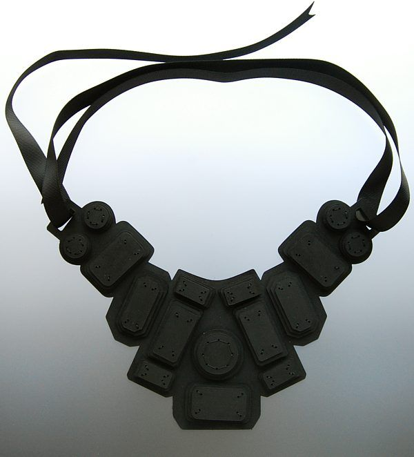 Jennifer Braithwaite (New Zealand) -  necklace - leather... This would be awesome with a plain white American Apparel v-neck and cute jeans. I want.